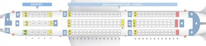 Боинг 767-300 2 класса