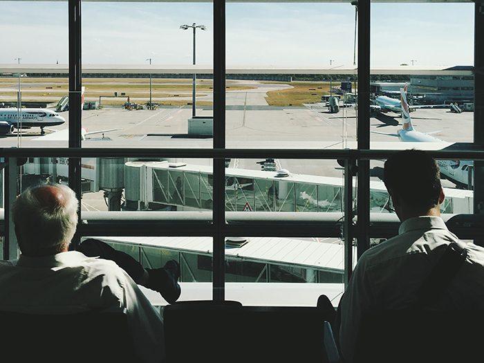 перед вылетом