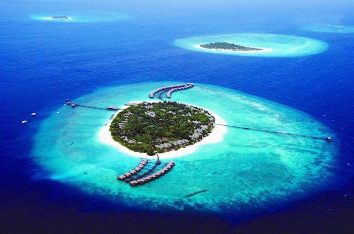 Мальдивы сверху