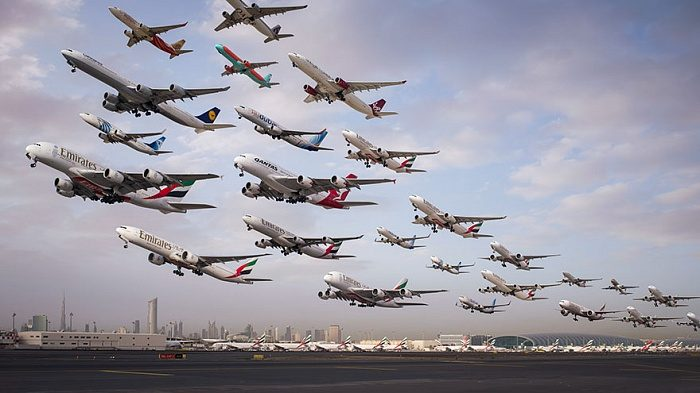 Самолёты взлетают