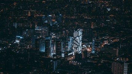 Ночной Пекин с воздуха