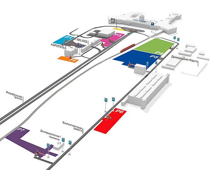 Схема парковок в Домодедово