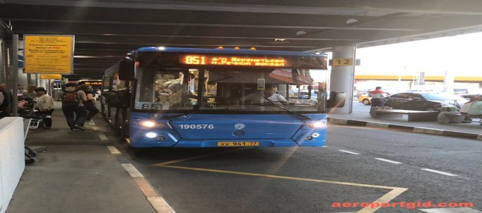 Автобус 851 Шереметьево-Речной вокзал