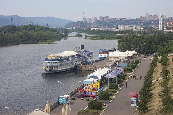 Набережная в Красноярске