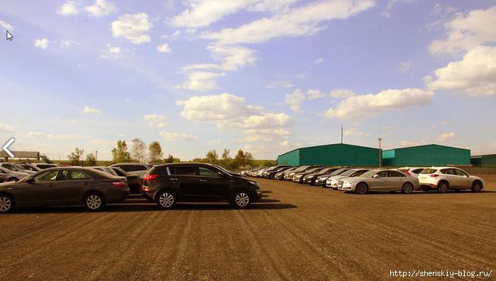 Парковки за пределами Домодедово