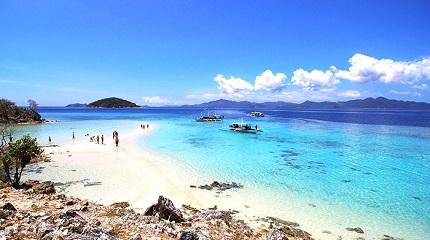 Песок на пляже Филиппинского острова