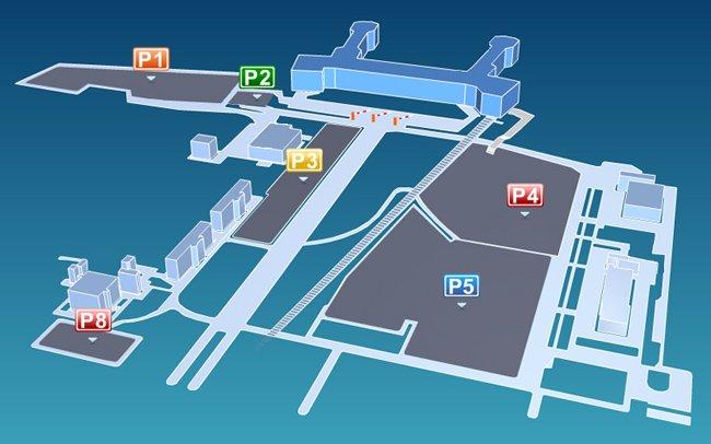 Схема парковки в Домодедово