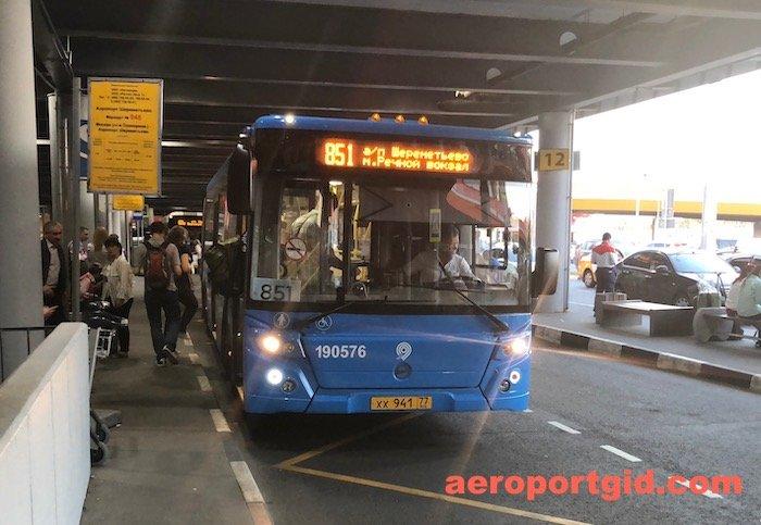 Автобус 851 - Речной Вокзал-Шереметьево