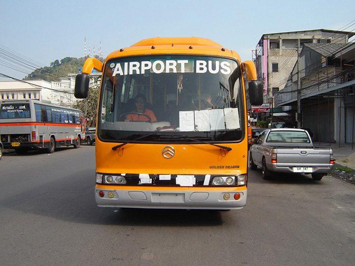 Автобусы в аэропорту Пхукета