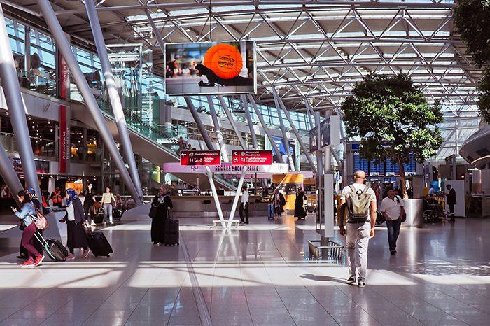 Интерьер терминала аэропорта