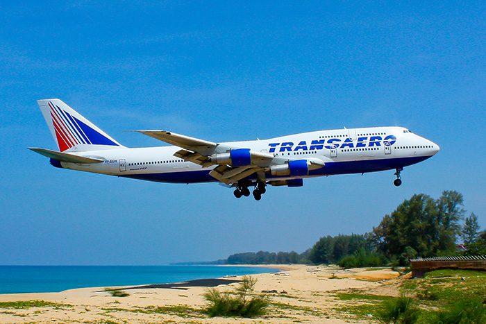 Посадка самолета в аэропорту Пхукета