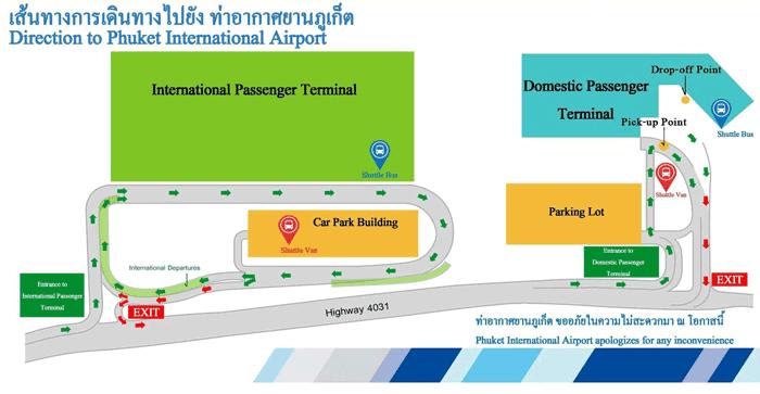 Схема аэропорта Пхукета