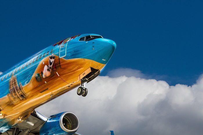 Боинг 737-300 в воздухе