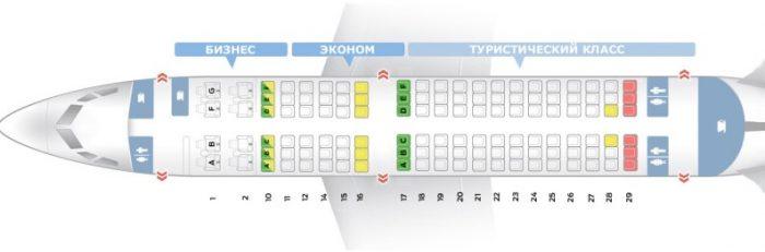 Боинг 737-300 схема салона 3 класса