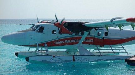 Гидросамолет на Мальдивах