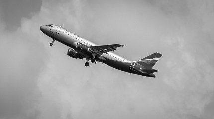 Самолёт Аэрофлота в небе