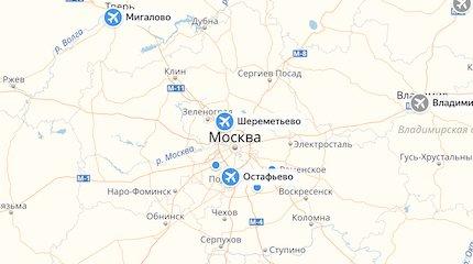 Аэропорты России на карте