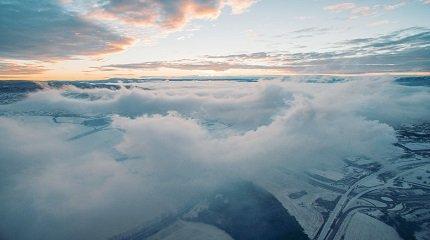 Облака над Норвегией