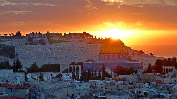 Закат в Иерусалиме